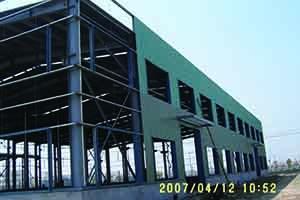 钢结构吊装及安装过程